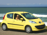 Peugeot 107 5-door ZA-spec 2006–10 wallpapers