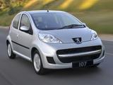 Peugeot 107 5-door ZA-spec 2010–12 photos