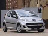 Peugeot 107 5-door ZA-spec 2010–12 wallpapers