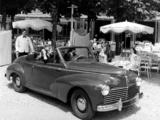 Peugeot 203 Cabrio 1951–56 pictures