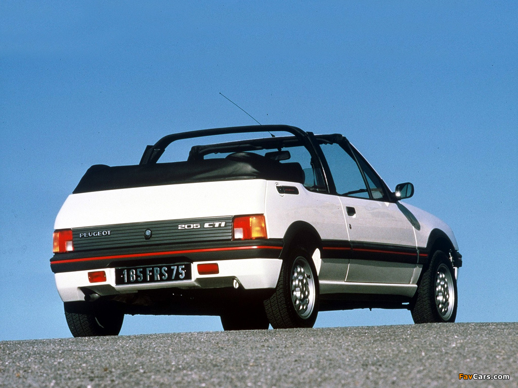 images of peugeot 205 cabrio 1986 94 1024x768. Black Bedroom Furniture Sets. Home Design Ideas