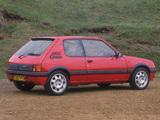 Images of Peugeot 205 GTI UK-spec 1991–94