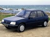 Peugeot 205 5-door 1983–98 wallpapers