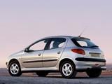 Peugeot 206 5-door UK-spec 2003–05 images