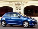 Peugeot 206 3-door UK-spec 2003–05 photos
