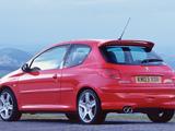 Pictures of Peugeot 206 GTi 180 UK-spec 2003–2006