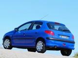 Peugeot 206 5-door 2003–05 wallpapers