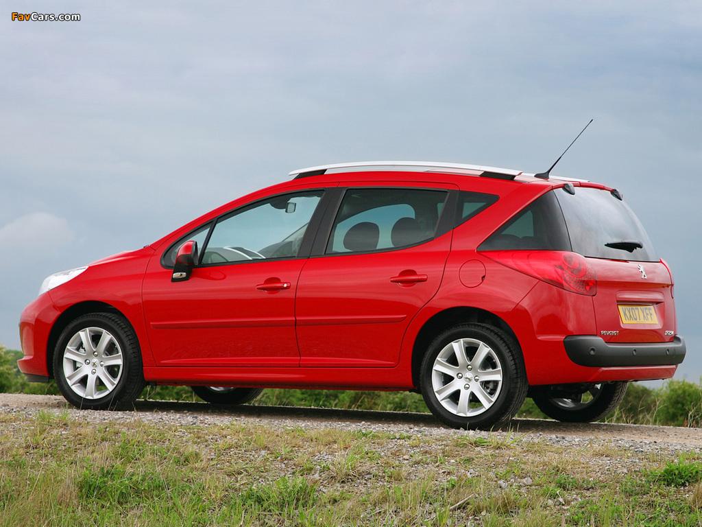 Images of Peugeot 207 SW UK-spec 2008 (1024 x 768)
