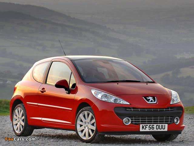 Peugeot 207 3-door UK-spec 2006–09 images (640 x 480)