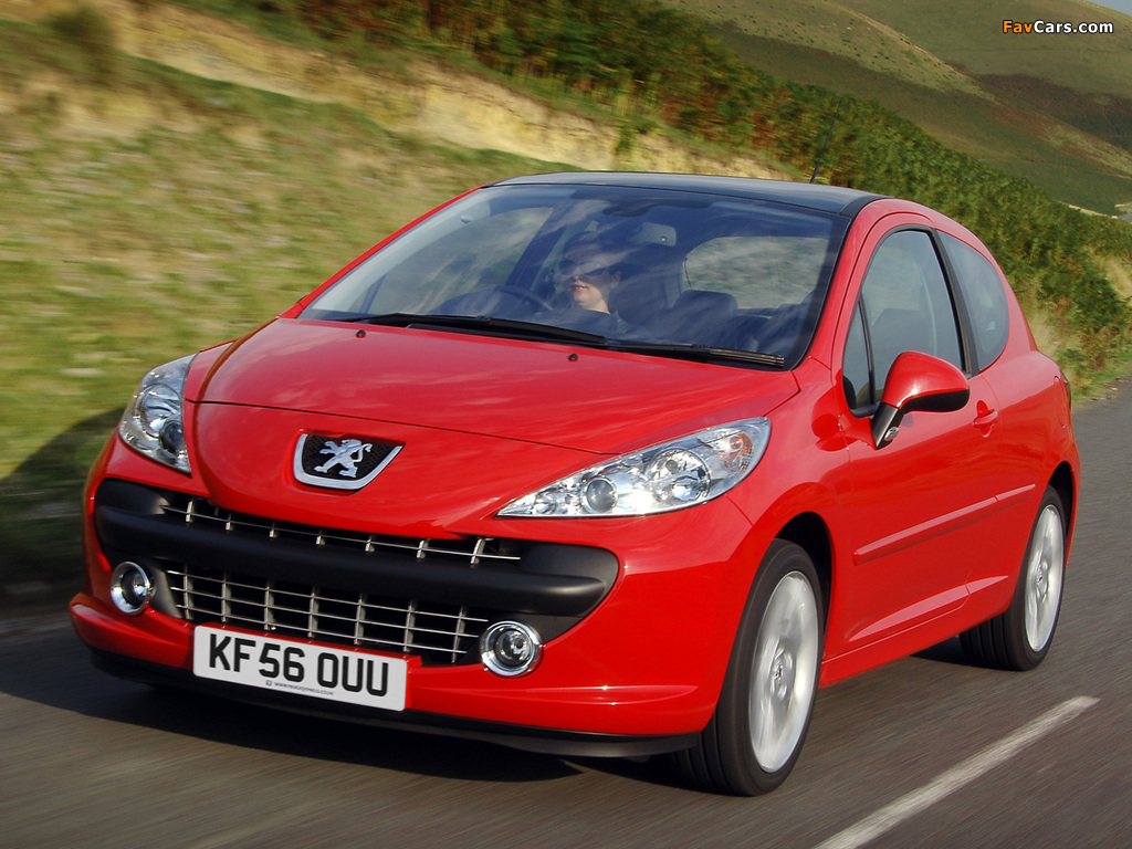 Peugeot 207 3-door UK-spec 2006–09 images (1024 x 768)