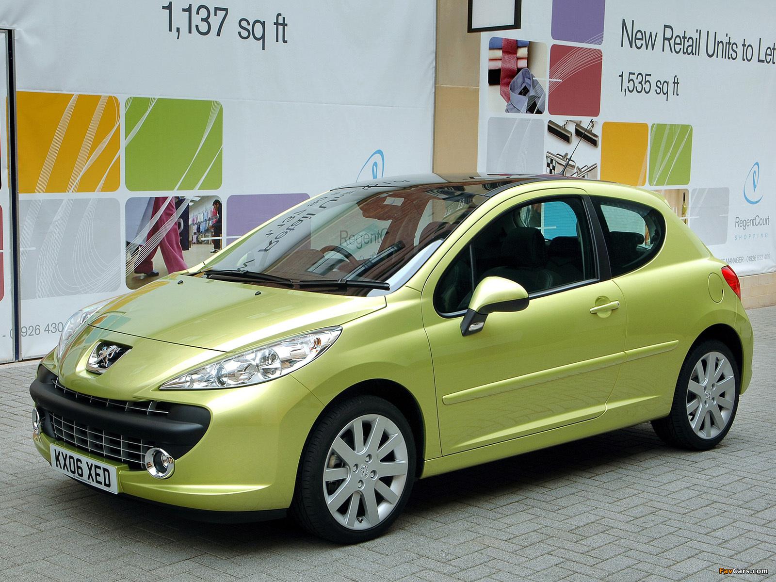 Peugeot 207 3-door UK-spec 2006–09 photos (1600 x 1200)