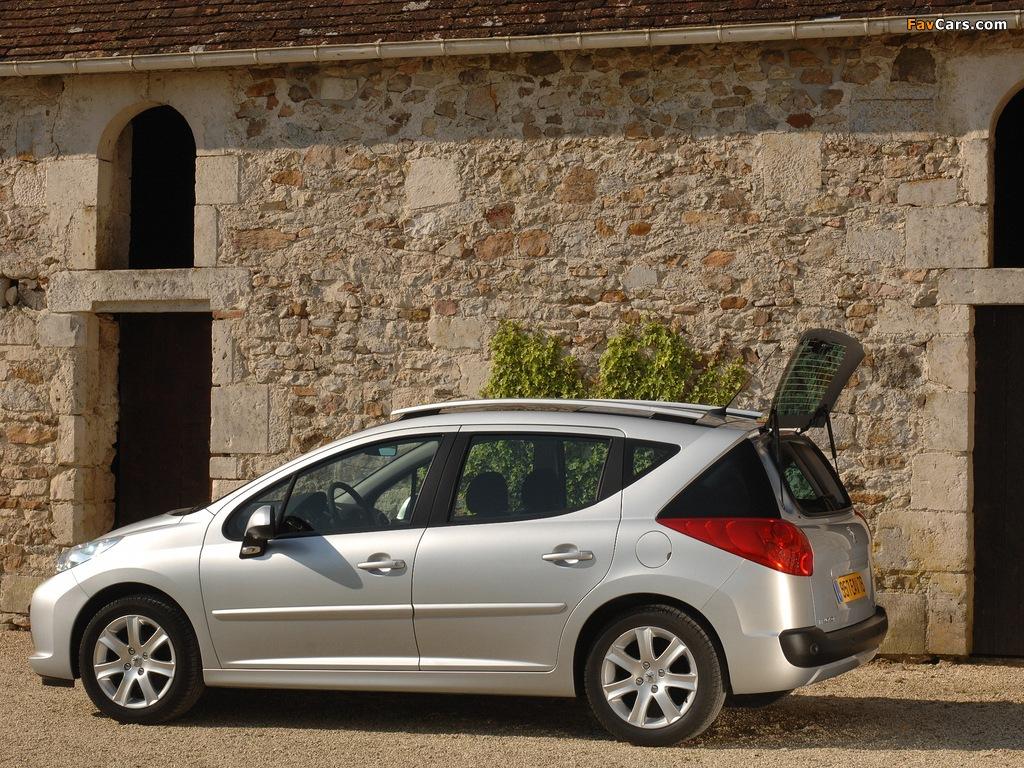 Peugeot 207 SW 2007–09 photos (1024 x 768)