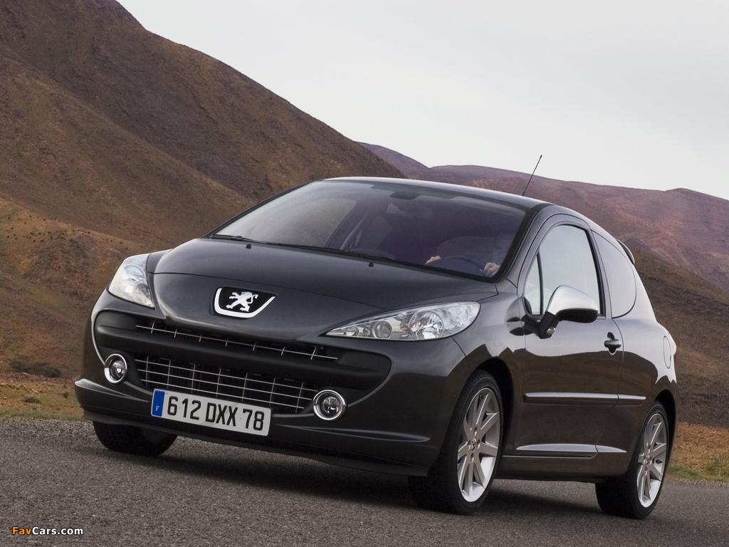 Peugeot 207 RC 2007–09 photos (1024 x 768)