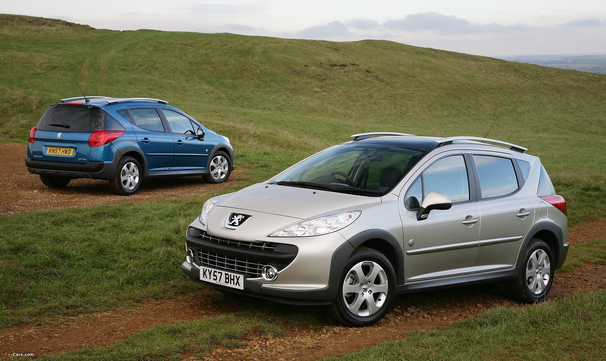 Peugeot 207 SW Outdoor UK-spec 2007–09 photos (2100 x 1250)