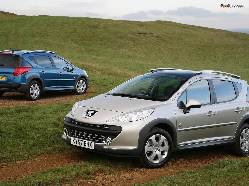 Peugeot 207 SW Outdoor UK-spec 2007–09 photos (1024 x 768)