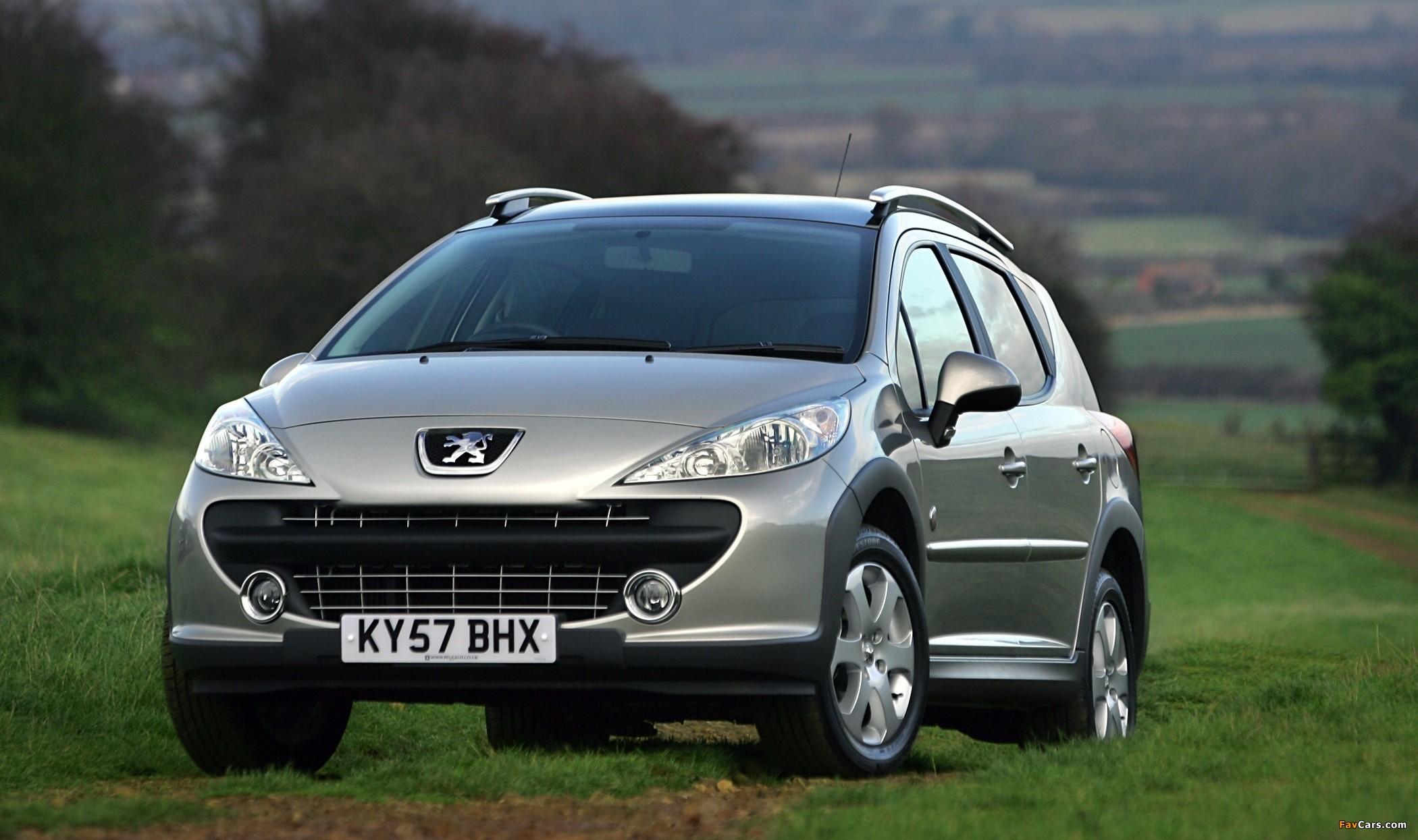 Peugeot 207 SW Outdoor UK-spec 2007–09 pictures (2100 x 1245)