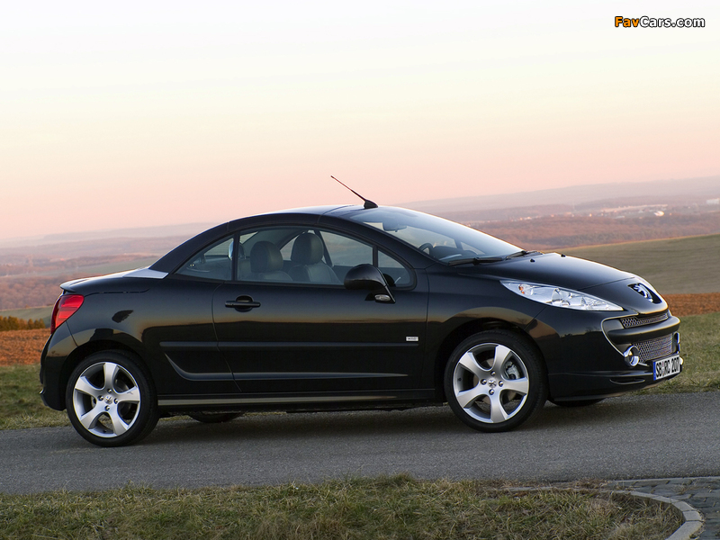 Peugeot 207 CC RC Line 2007 pictures (800 x 600)