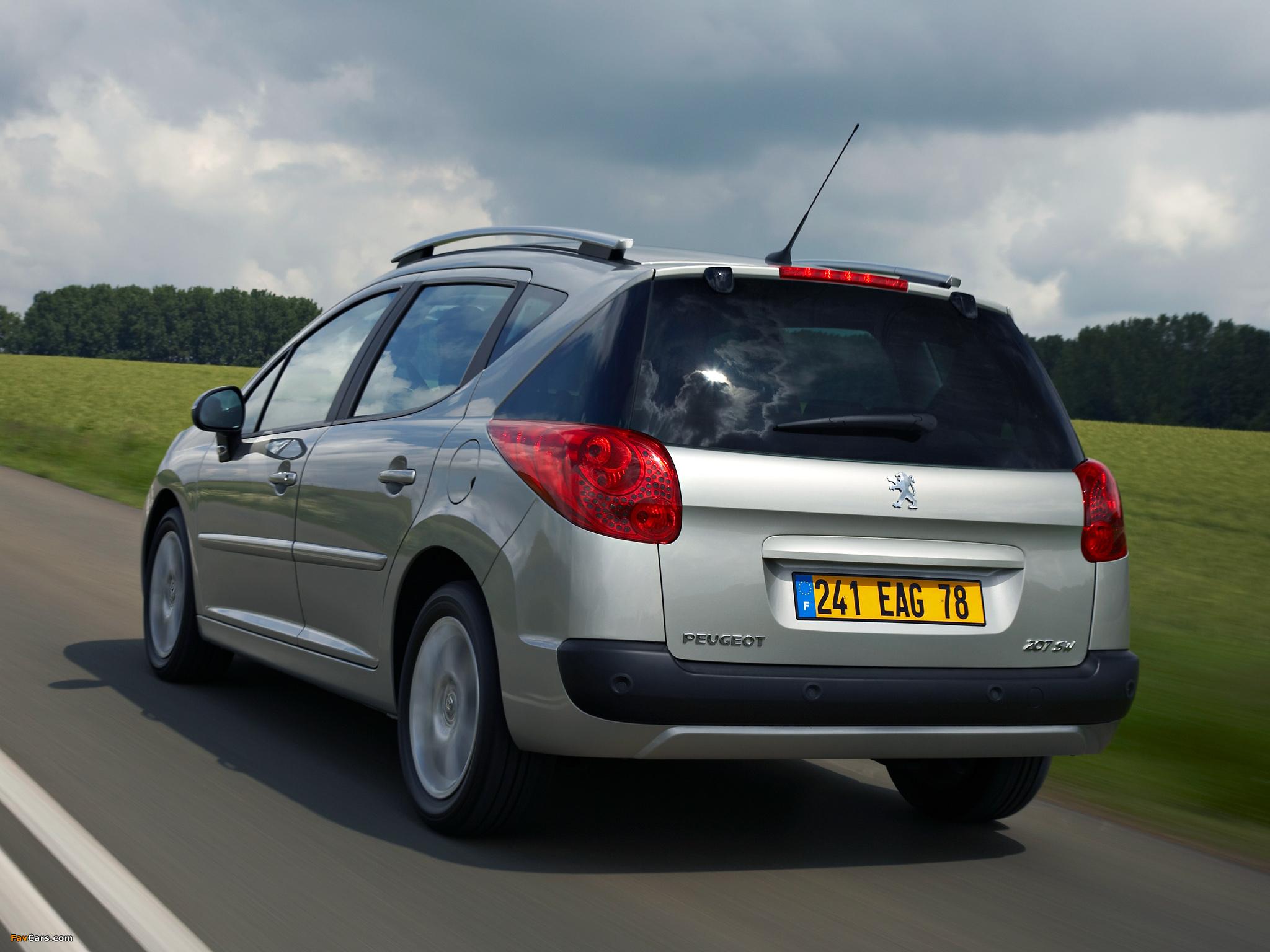 Peugeot 207 SW 2007–09 wallpapers (2048 x 1536)