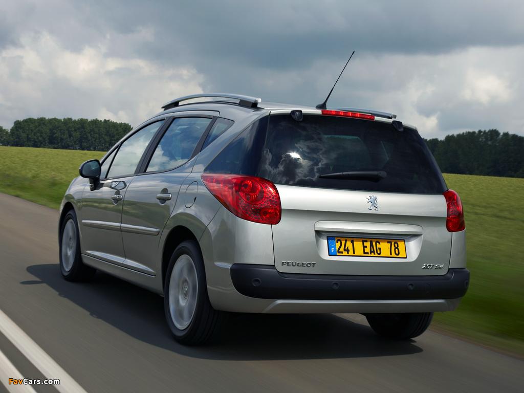 Peugeot 207 SW 2007–09 wallpapers (1024 x 768)