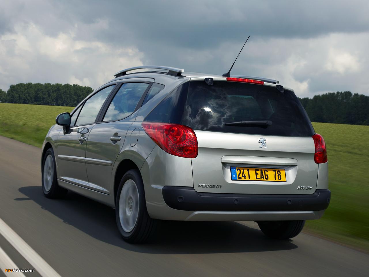 Peugeot 207 SW 2007–09 wallpapers (1280 x 960)
