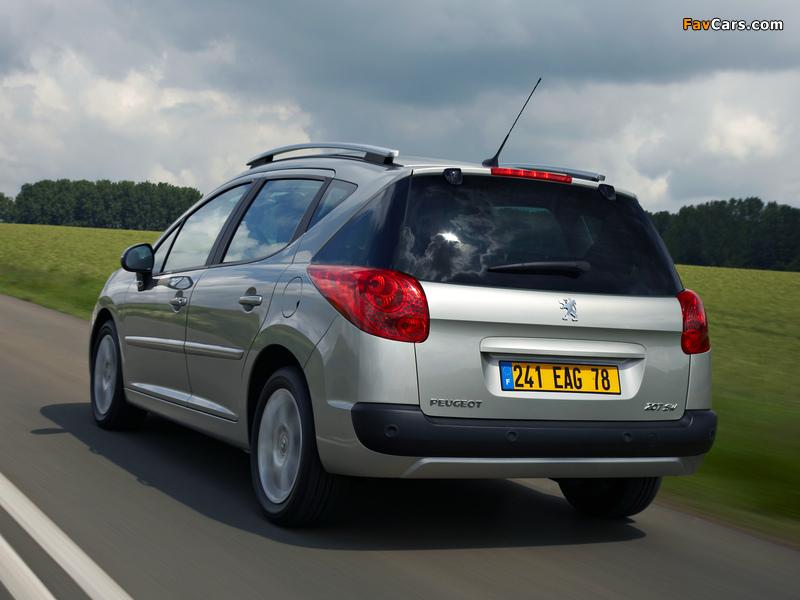 Peugeot 207 SW 2007–09 wallpapers (800 x 600)