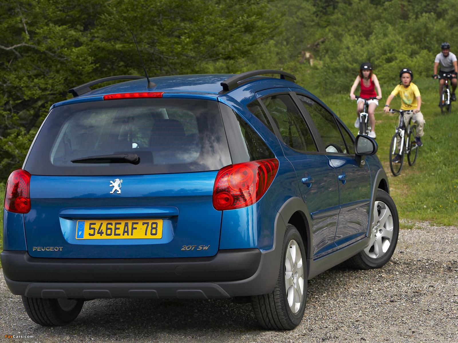 Peugeot 207 SW Outdoor 2008 images (1600 x 1200)