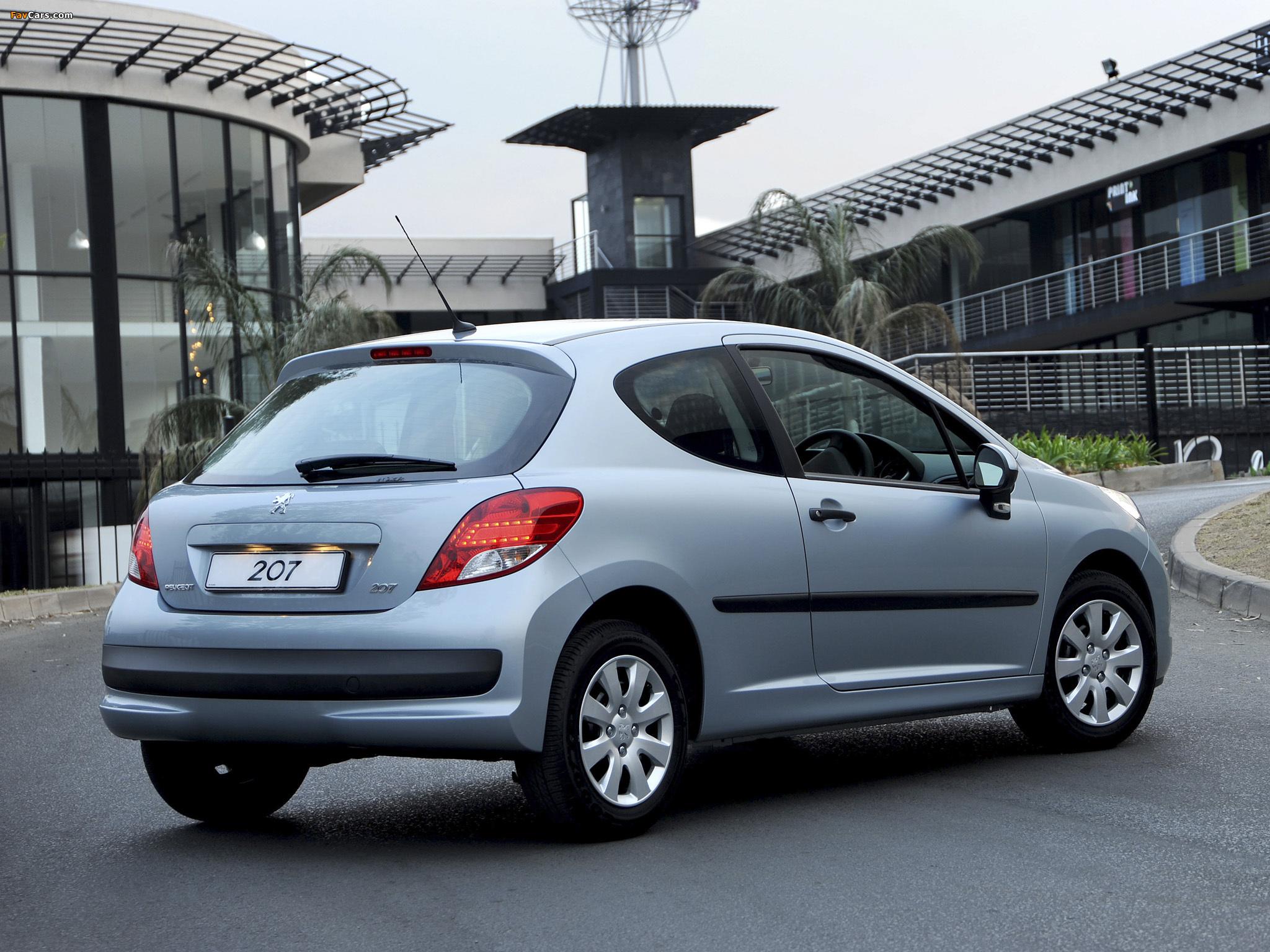 Peugeot 207 3-door ZA-spec 2009–10 images (2048 x 1536)