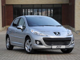 Peugeot 207 5-door ZA-spec 2009–12 wallpapers