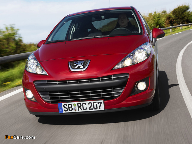 Peugeot 207 RC 2009 wallpapers (640 x 480)