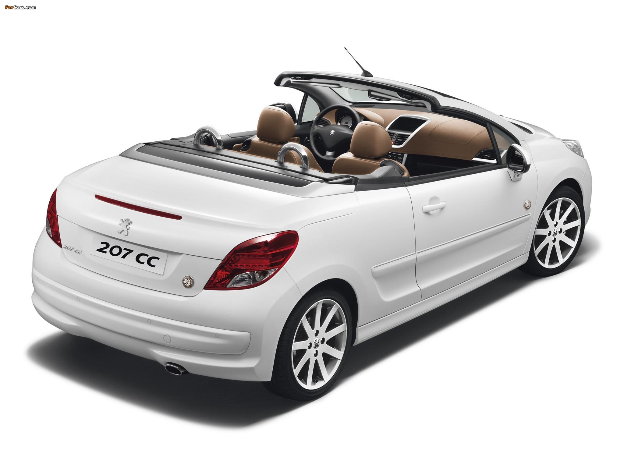 Peugeot 207 CC Roland Garros 2011 images (2048 x 1536)