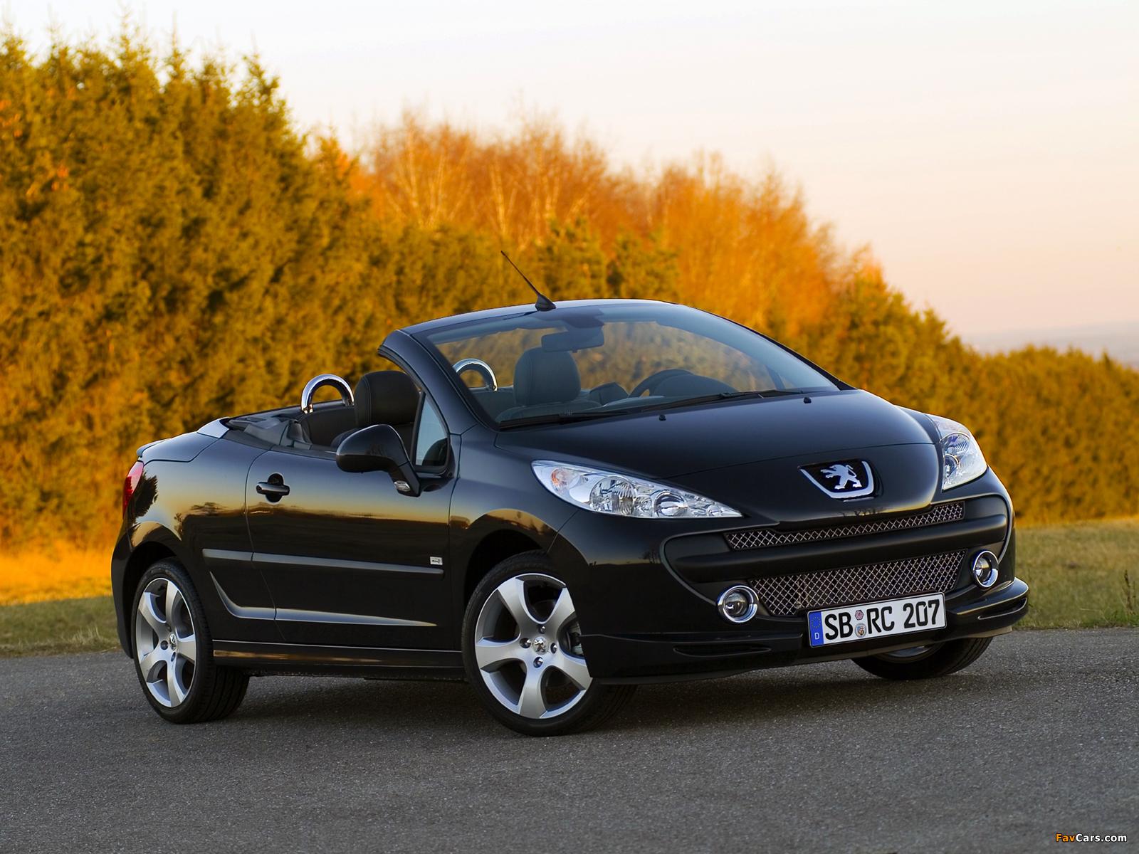 Photos of Peugeot 207 CC RC Line 2007 (1600 x 1200)