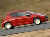Photos of Peugeot 207 GTi ZA-spec 2007–10