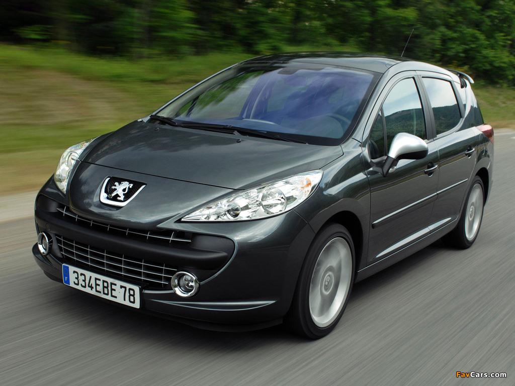 Photos of Peugeot 207 RC SW 2008–09 (1024 x 768)