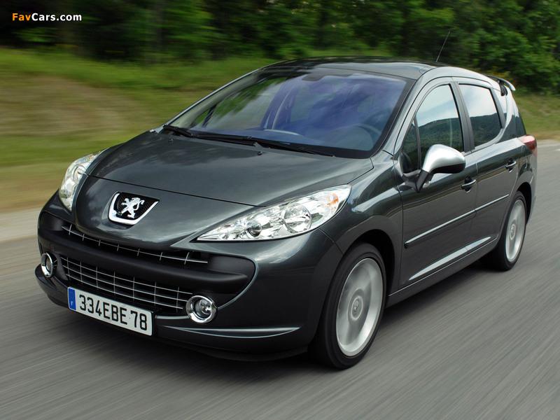 Photos of Peugeot 207 RC SW 2008–09 (800 x 600)