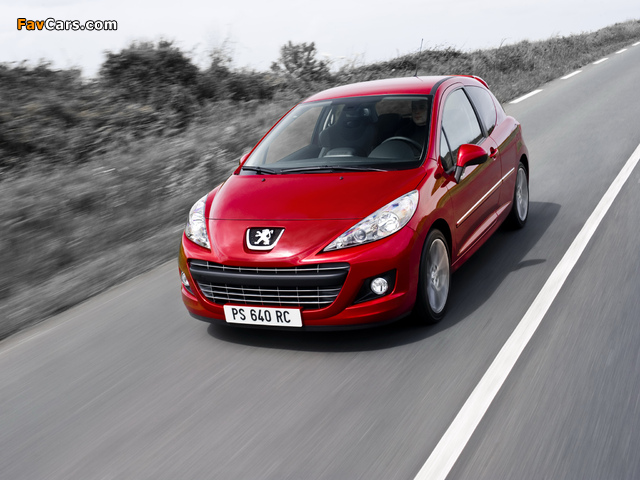 Photos of Peugeot 207 RC 2009 (640 x 480)