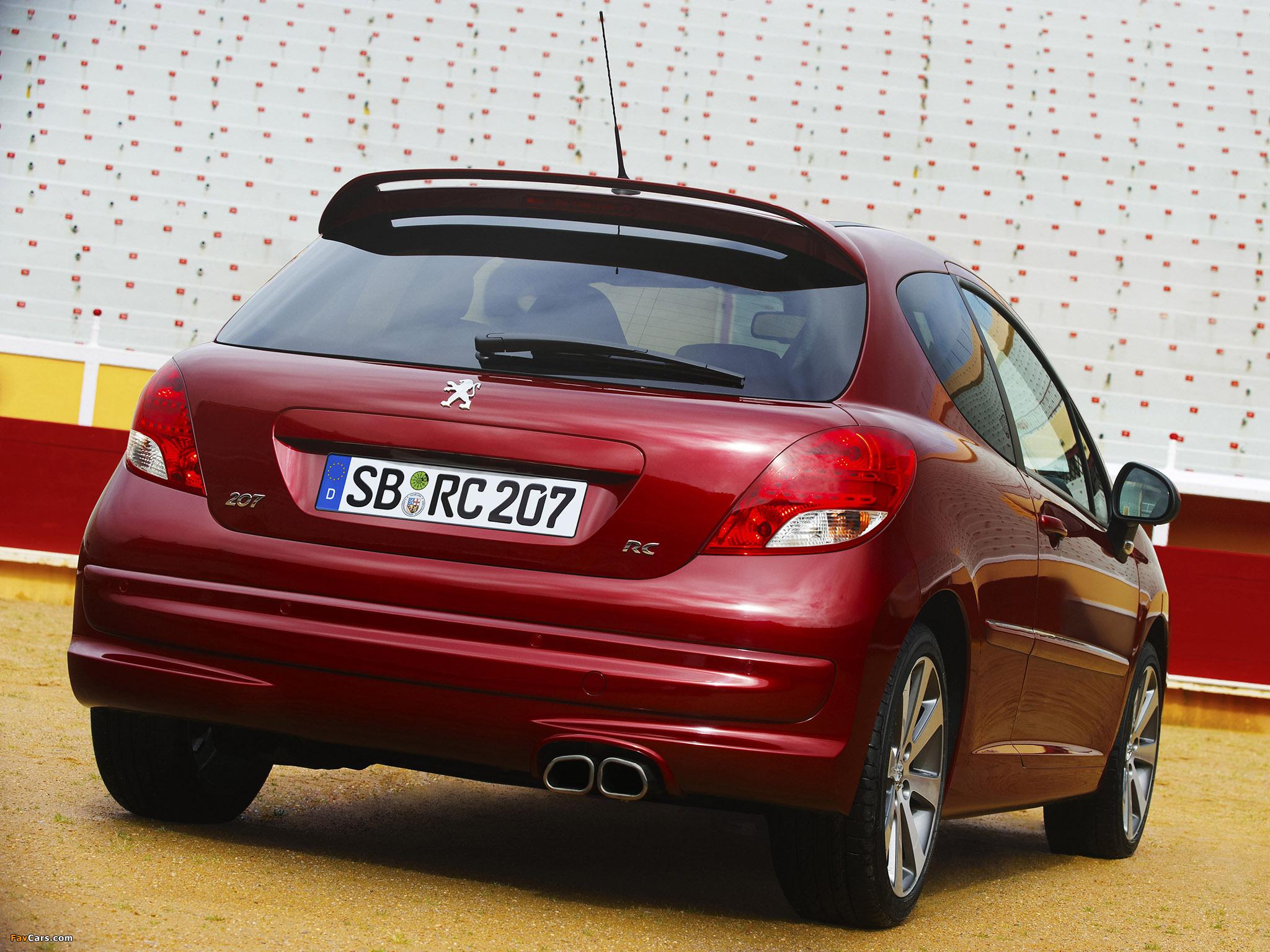 Photos of Peugeot 207 RC 2009 (2048 x 1536)