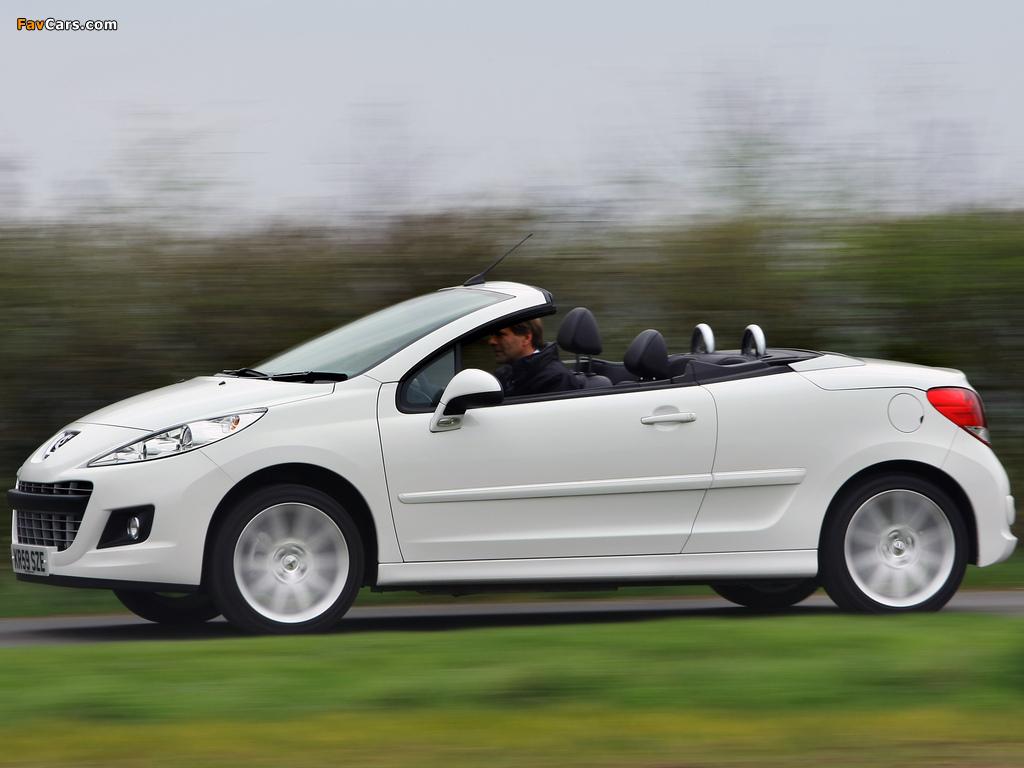 Photos of Peugeot 207 CC UK-spec 2009 (1024 x 768)