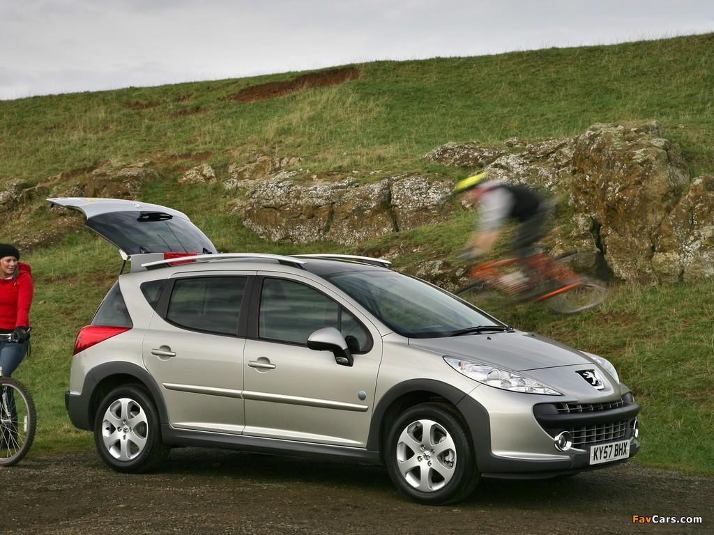 Pictures of Peugeot 207 SW Outdoor UK-spec 2007–09 (1024 x 768)