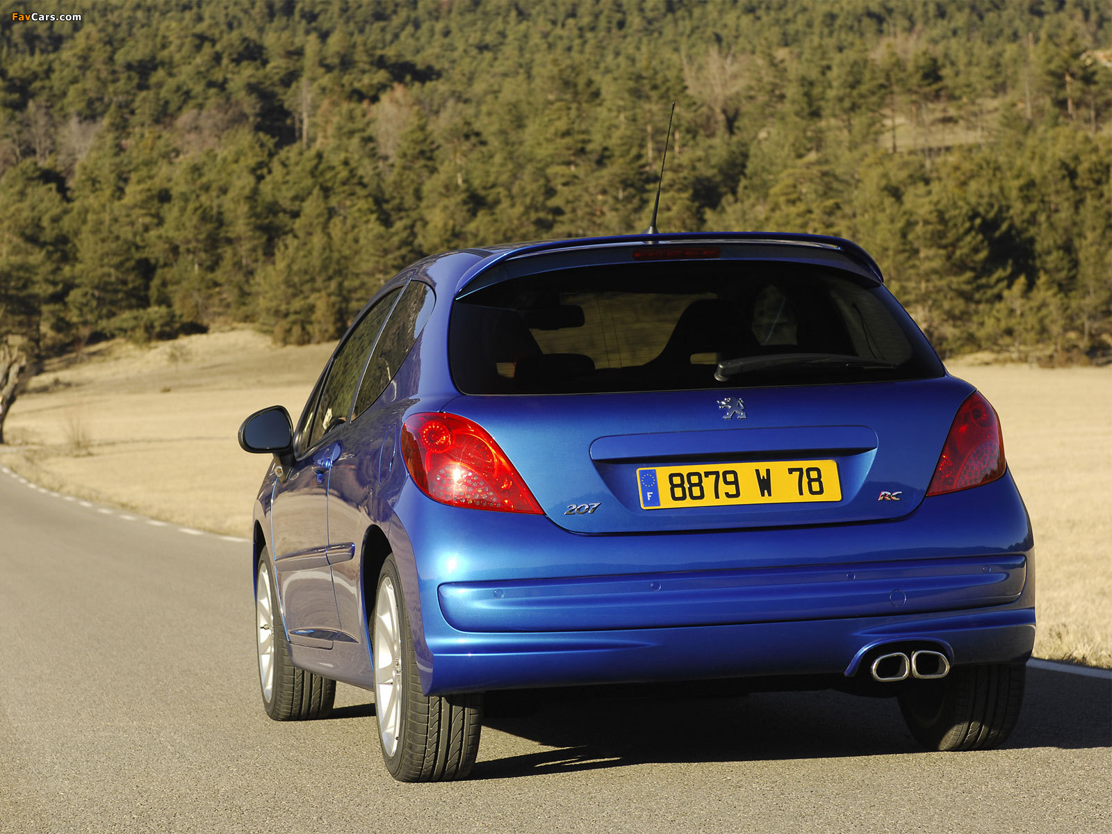 Peugeot 207 RC 2007–09 wallpapers (1600 x 1200)