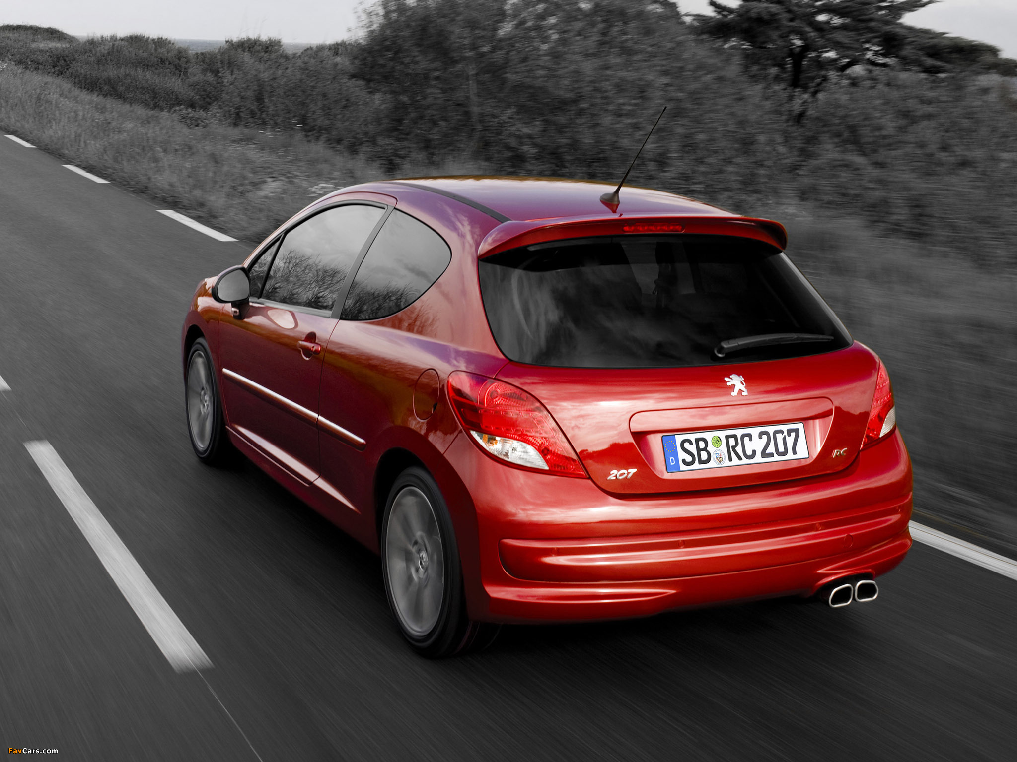 Peugeot 207 RC 2009 wallpapers (2048 x 1536)