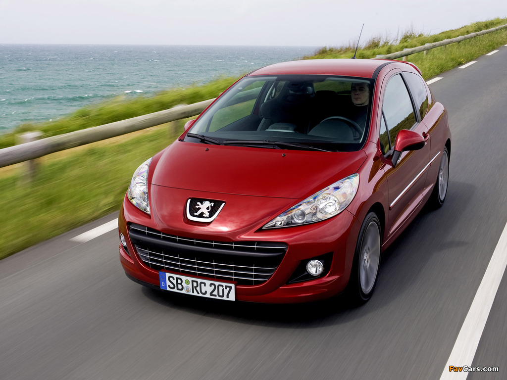 Peugeot 207 RC 2009 wallpapers (1024 x 768)