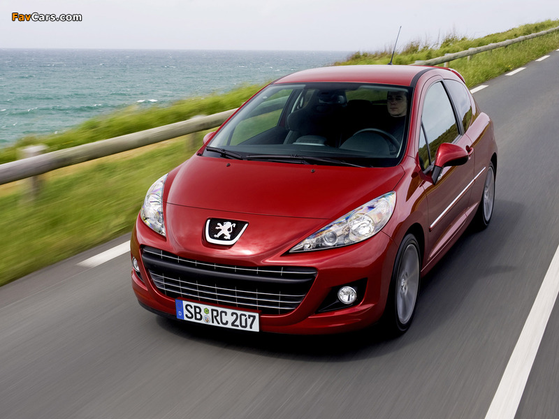 Peugeot 207 RC 2009 wallpapers (800 x 600)