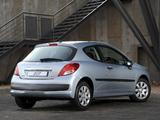 Peugeot 207 3-door ZA-spec 2009–10 wallpapers