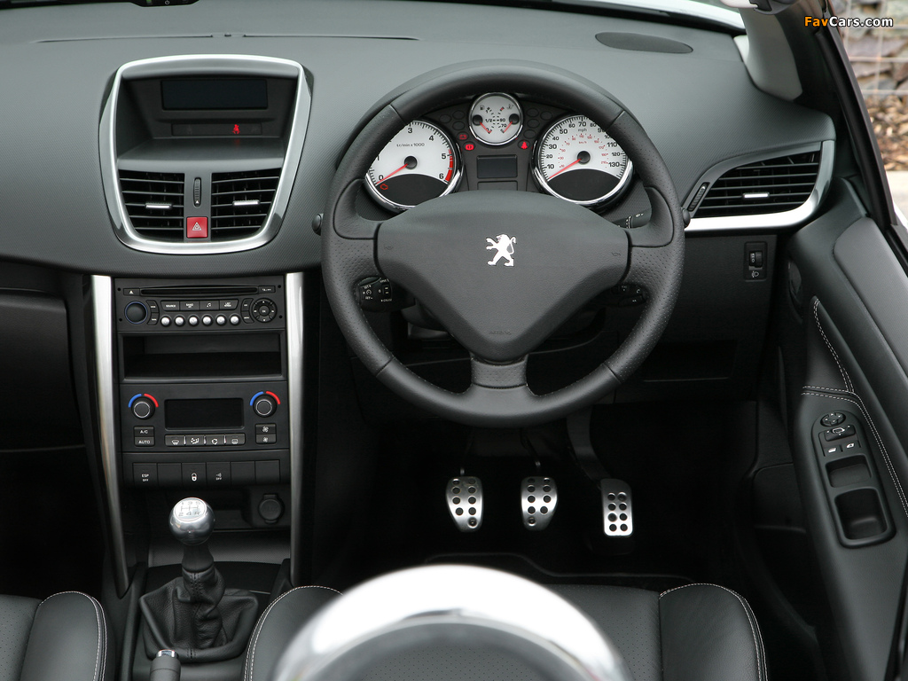 Peugeot 207 CC UK-spec 2009 wallpapers (1024 x 768)