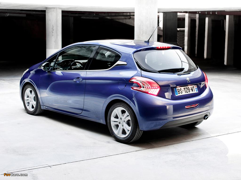 Peugeot 208 3-door 2012 photos (1024 x 768)