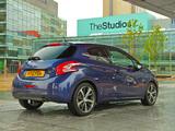 Peugeot 208 3-door UK-spec 2012 pictures