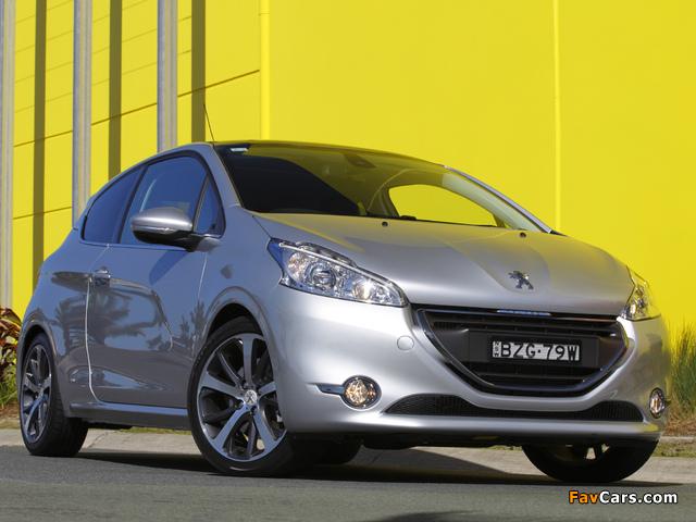 Peugeot 208 3-door AU-spec 2012 wallpapers (640 x 480)