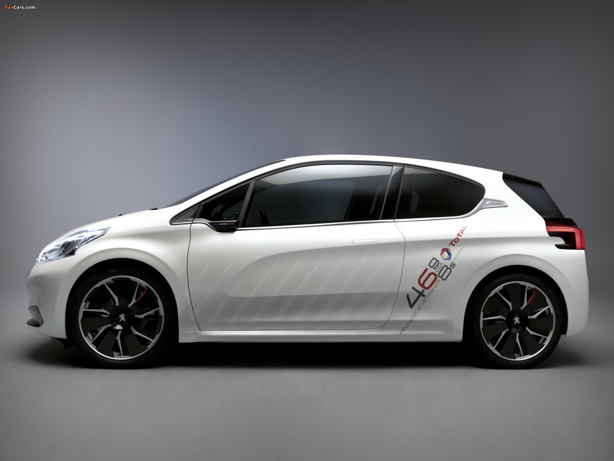 Peugeot 208 HYbrid FE Concept 2013 pictures (2048 x 1536)