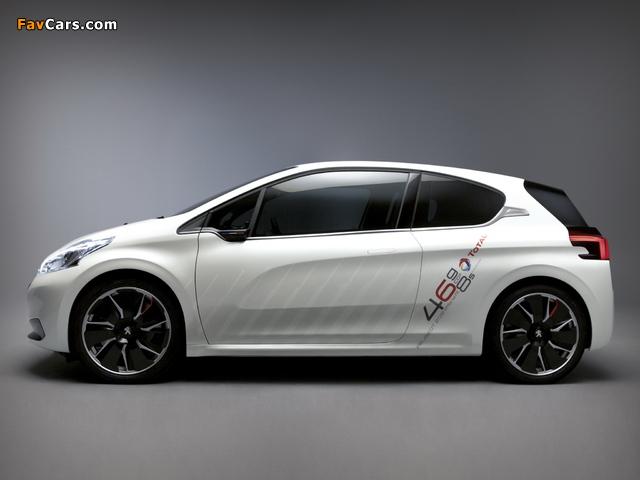 Peugeot 208 HYbrid FE Concept 2013 pictures (640 x 480)