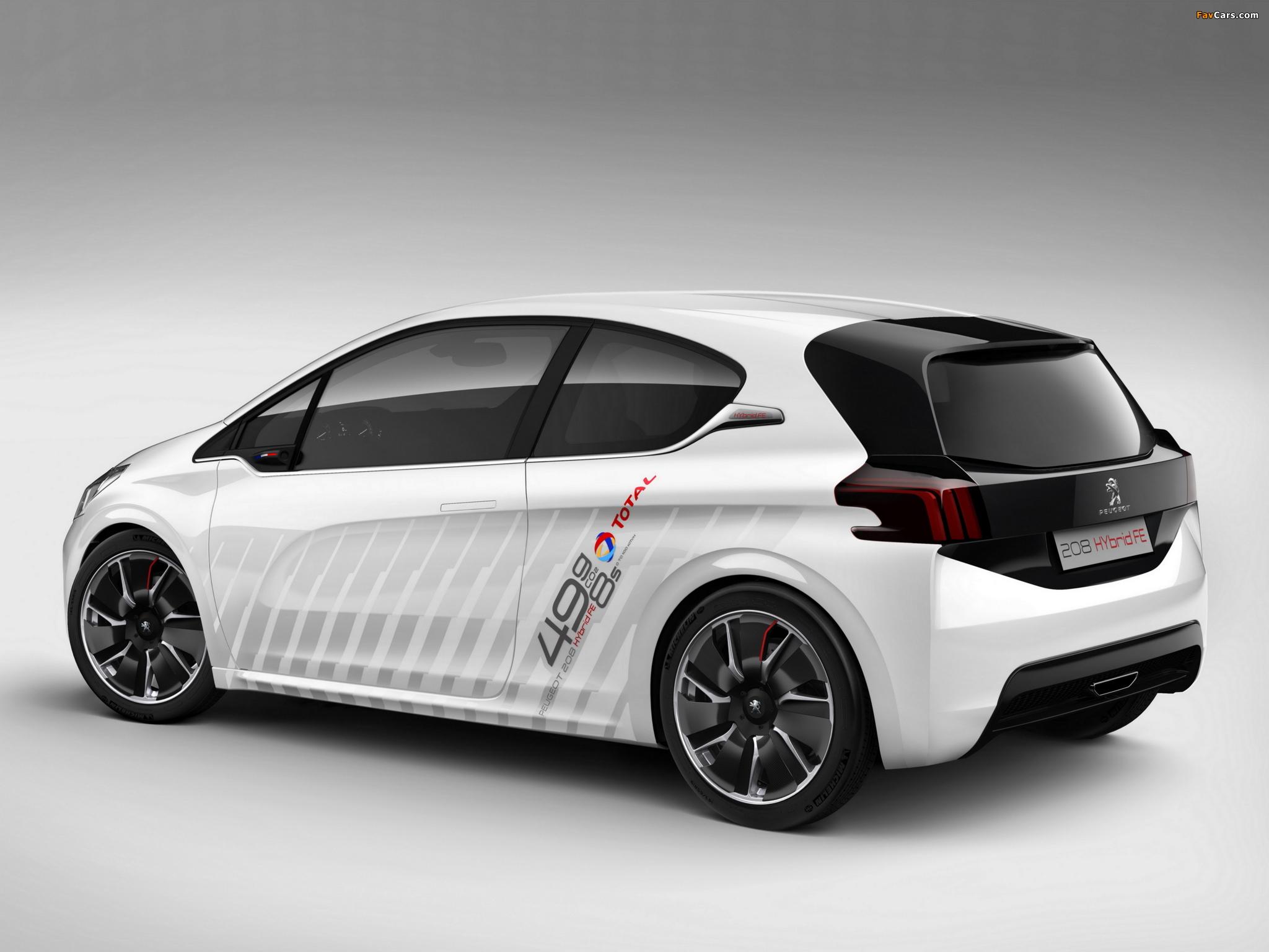 Peugeot 208 HYbrid FE Concept 2013 wallpapers (2048 x 1536)